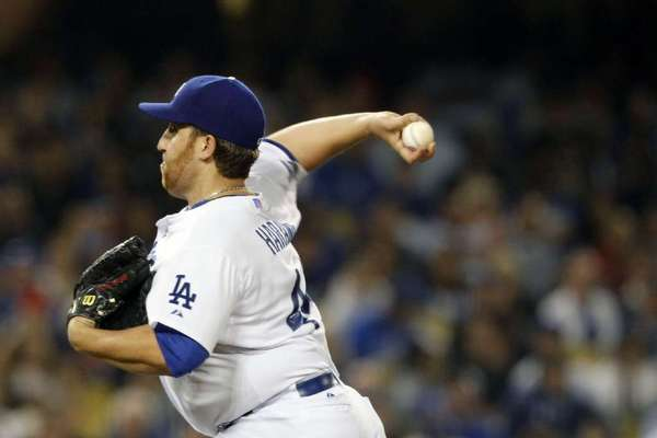Aaron Harang went 10-10 with a 3.81 ERA with the Dodgers in 2012.