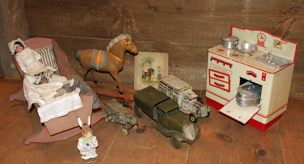 The Allison-Antrim Museum and Barn in Greencastle, Pa., displays a collection of toys received for Christmas by children from the late 1800s through the 1950s. The toys will on display through January.