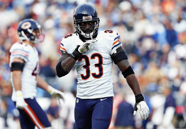 Chicago Bears cornerback Charles Tillman lines up on defense in the fourth quarter against the Tennessee Titans at LP Field in Nashville, Tenn. on Sunday, Nov. 4, 2012. The Bears beat the beat the Titans, 51-20.