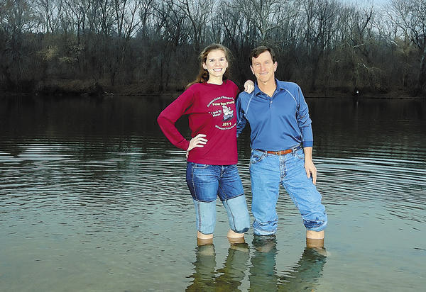 Mariel Beachley and her father, Dr. Ed Beachley, will participate in the 2013 Polar Bear Plunge at River Bottom Park on Tuesday, Jan. 1. The Beachleys have made the plunge a family affair for several years.