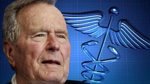 Spokesman says ex-President Bush's fever rising