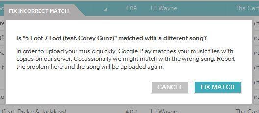 Google Music is reportedly mixing up the clean and explicit versions of some users' songs.