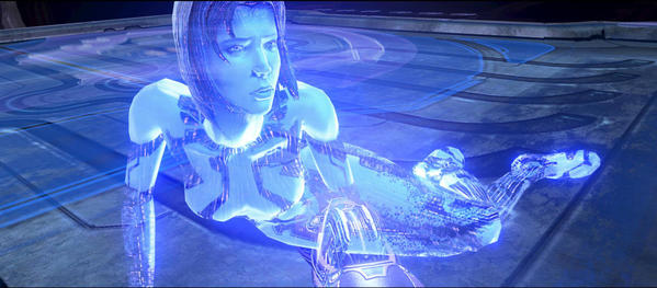 "<b>Cortana from ""Halo 4""</b> <br>There's something ironic about the Artificial Intelligence having more emotion and personality than the human character, but that's exactly the case in ""Halo 4."" Master Chief's blue-colored best friend, Cortana, is going ""rampant,"" which happens when A.I.s get near the end of their natural seven-year lifespan. (What, no warranty?) It's eerie and affecting to see Cortana slowly go insane from her condition while waiting for our hero to save her."