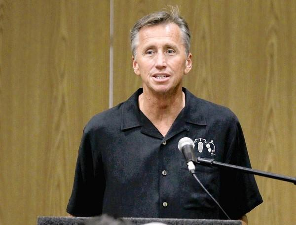 Devin Dwyer talks about issues facing Huntington Beach during the Surf City Tea Party forum in September.