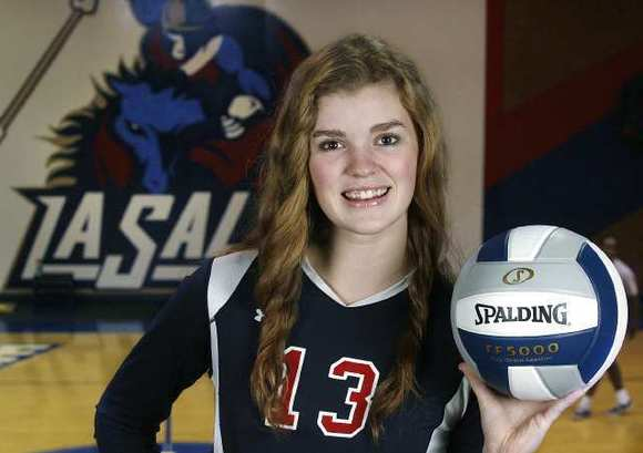 La Salle sophomore Haley DeSales finished with 389 kills, 220 digs, 55 aces and 38 blocks, leading the Lancers (34-3) to the Del Rey League crown.