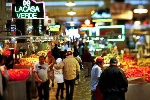 Grand Central Market houses more than 40 food stalls, which will be updated to reflect a changing downtown and the next generation of vendors while staying true to its legacy, planners say.