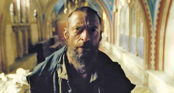 "Hugh Jackman as Jean Valjean in the movie ""Les Miserables."""