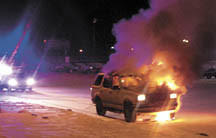 Fire engulfs vehicle in Aberdeen