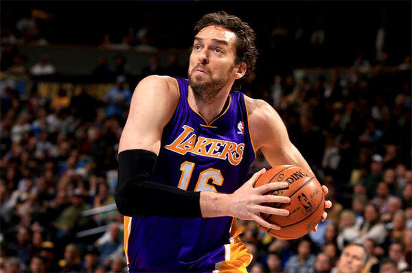 Pau Gasol made two three-pointers against the Denver Nuggets after attempting only 11 previously this season.