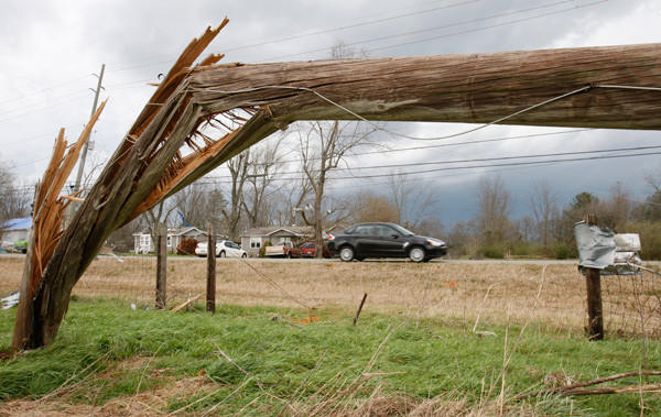 Year in Review: News of 2012: A spate of tornadoes and thunderstorms tore across the southern and midwestern United States in early March, killing dozens of people and injuring hundreds of others.
