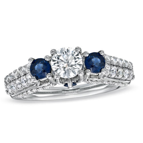 New Year's Eve will undoubtedly see its share of marriage proposals. Consider this Vera Wang LOVE collection ring with sapphires and diamonds. It was good enough for the royal family -- a ring similar to the one worn by the former Kate Middleton will win you points as well.<br> <br> <br> <i>Find the Vera Wang LOVE diamond and sapphire three-stone engagement ring in 14-karat white gold for $4,499 at Zales and zales.com.</i>