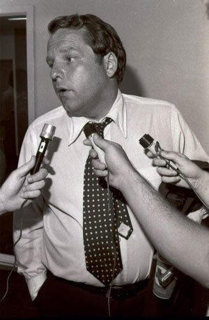 Brad Corbett in 1977. He was owner of the Texas Rangers from 1974 to 1980.