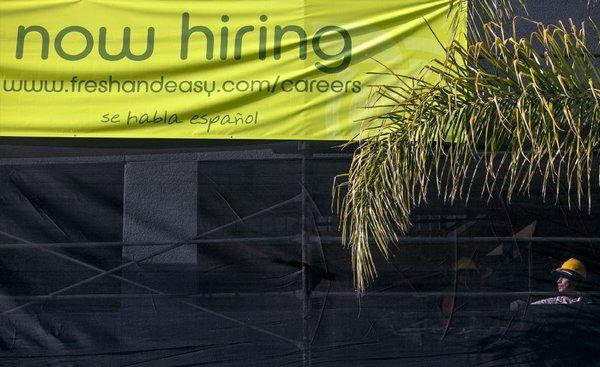 Fresh and Easy hiring sign