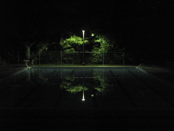 "Dylan Singleton's photo ""Heart,"" of the Hobbit's Glen community swimming pool at night, was selected as a winner in Ron Howard and Canon U.S.A.'s contest, Project Imaginat10n."