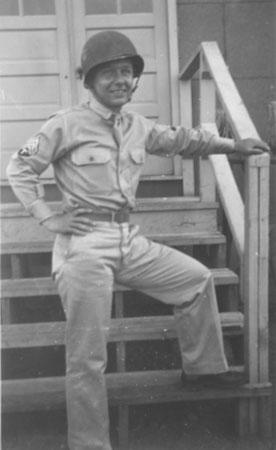 Lamar J.T. Farrell while stationed at Camp Carson, Colo., in 1942.