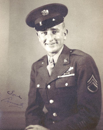 World War II veteran Ernest E. 'Whitey' Eschbach in his Army uniform.