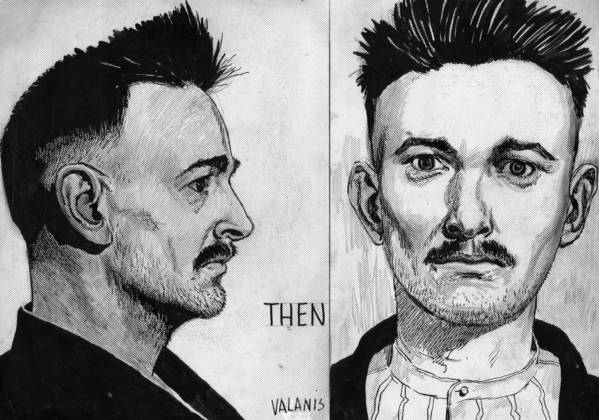 Detective Adolph A. Valanis of the Chicago Police Department drew a picture of Tommy O'Connor that ran in the Chicago Tribune on December 9, 1951. The drawing is based on O'Connors 1921 booking photo.