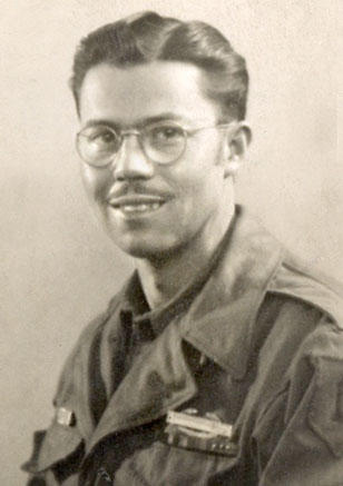 Pvt. Ernest P. Leh of the 18th Infantry Regiment, 1st Infantry Division, in Paris in 1945.