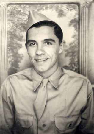Rolland 'Joe' Correll as an Army trainee at Camp Shelby, Miss., in 1943.