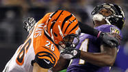 "The last time Ed Dickson tangled with Taylor Mays, the Ravens tight end was on the receiving end of a blow from the Cincinnati Bengals strong safety that an official called ""helmet-to-helmet with a defenseless receiver."""