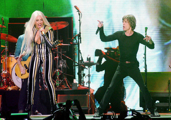 Lady Gaga and Mick Jagger
