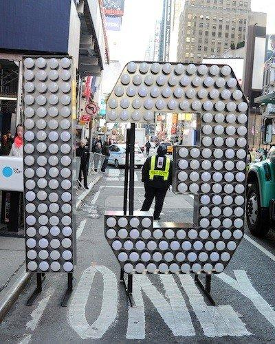 "The lighted number 13 for ""2013"" arrived at Times Square last week."