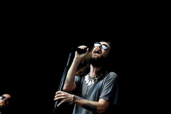 Chris Robinson of the Black Crowes performs during the Rothbury music festival in Rothbury, Michigan, Saturday, July 4, 2009.