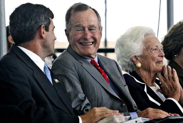 Former president George H.W. Bush during his visits to Newport News Shipbuilding and the Naval Station Norfolk for the aircraft carrier CVN-77is the last of the Nimitz class to be built.