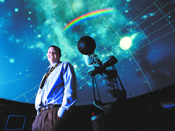 Chris Kopco presents Dark Matters, a program exploring what is known about the invisible matter in the universe, on Wednesday, Jan. 2, and Tuesdays, Jan. 15 and Feb. 5, at William Brish Planetarium at Washington County Board of Education in Hagerstown.