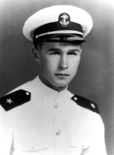 George H.W. Bush, Naval Aviator Cadet in early 1943.