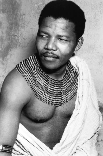 Nelson Mandela in his youth circa 1950.