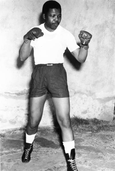 Nelson Mandela, an anti-apartheid activist, was a boxer in his youth in the early 1950s.