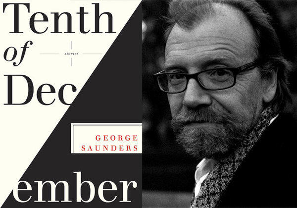 The cover of 'Tenth of December' and author George Saunders.