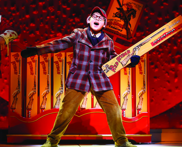 "Johnny Rabe of Naperville plays Ralphie in ""A Christmas Story, The Musical."""