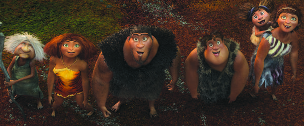 "After years of huddling in a cave, a prehistoric family (voiced by Emma Stone, Ryan Reynolds, Nicolas Cage and Catherine Keener) gets some air. <br>What's new: Ever-lovable Stone lending her voice to a big-screen animated effort. Not counting ""Marmaduke."" <br>What's not: Really, how many kids' stories do we need about youngsters who venture out into the world. Get new plots please."