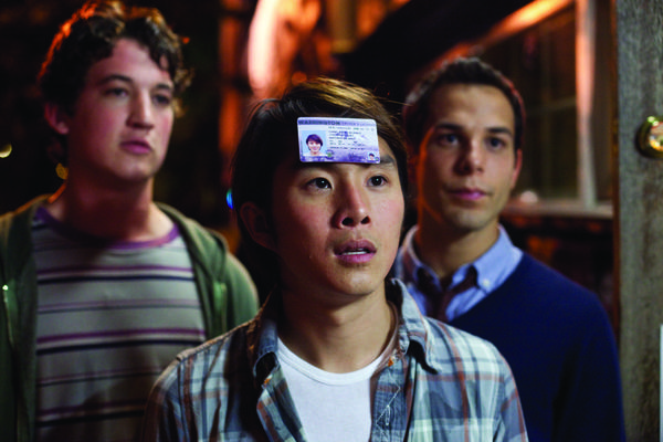 "Two friends (Miles Teller, Skylar Astin) help their friend Jeff (Justin Chon) celebrate his 21st birthday in raucous style, even though Jeff has to get up early for something that will actually matter in the long run. <br>What's new: Writers Scott Lucas and Jon Moore (""The Hangover,"" ""The Change-Up"") direct their own script for the first time. <br>What's not: The movie pretty much has "" 'The Hangover' meets 'Project X' meets a million other one-wild-night movie"" written all over it."
