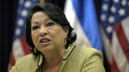 (Reuters) - U.S. Supreme Court Justice Sonia Sotomayor has refused to block enforcement starting next week of a requirement in President Barack Obama's 2010 healthcare overhaul that some companies provide insurance coverage for contraceptive drugs and devices.