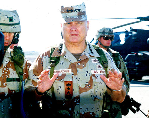 Gen. Norman Schwarzkopf in Saudi Arabia in January 1991.