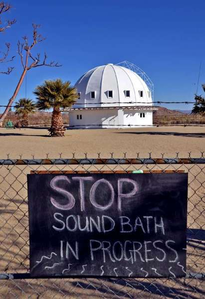 "The Integratron, near Joshua Tree, offers sound baths, but on New Year's Day it will also offer the ""Happily Ever After"" event, with baths, music and ""rock rides."""