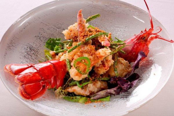 Five-spice garlic lobster is part of Chef Joseph Elevado's menu at the new Andrea's, which opens Friday at Wynn's Encore in Las Vegas.