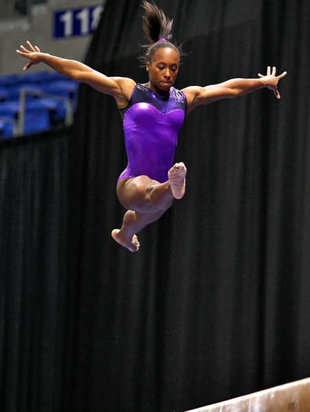 Parkette Elizabeth Price competes at the Visa US Gymnastics Championships on Wednesday, June 6, 2012 in St. Louis, Missouri.