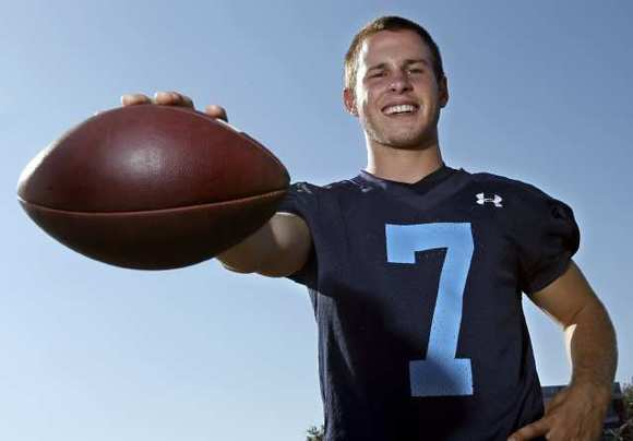 Corona del Mar High senior quarterback Cayman Carter is the Daily Pilot Dream Team Player of the Year.