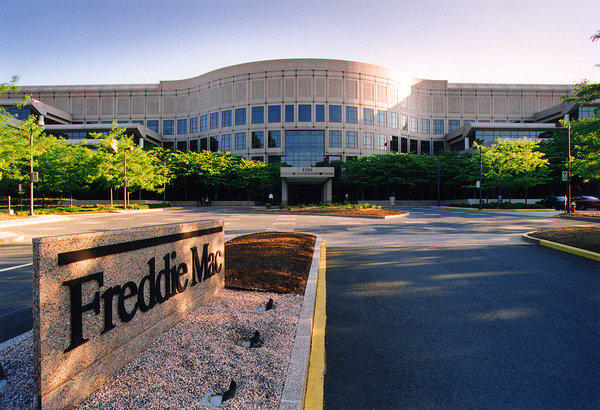 Freddie Mac's McLean, Va., headquarters. The government-backed mortgage finance giant says fixed home loan rates rose this week.