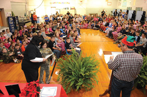 Providence Elementary School fourth and fifth grade students were recognized for their K-Prep test scores when they were in the third and fourth grades. Providence ranked 21st out of 733 elementary schools in Kentucky for their 2011 test scores. 