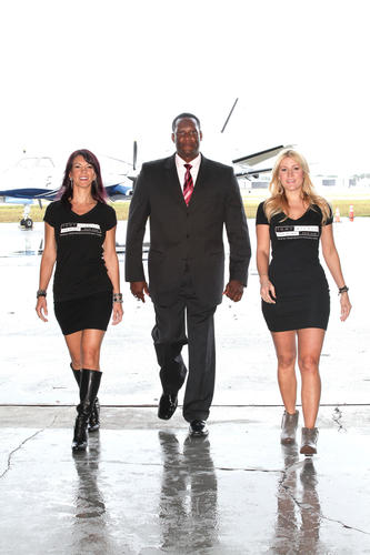 "Jenny Sosa, left, Corey Hicks and Stephanie Parker prepare for takeoff while promoting the ""30th Anniversary MS Gala Luncheon,"" which will take place Jan. 23 at the Sheltair Hangar located in Fort Lauderdale. Proceeds will benefit the National Multiple Sclerosis Society's South Florida Chapter. To see more photos from <i>Society Scene's</i> Broward edition, visit www.Facebook.com/SocietyScene."