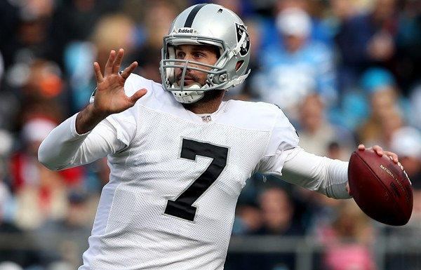 Raiders quarterback Matt Leinart got a rare chance to play Sunday  against the Panthers.