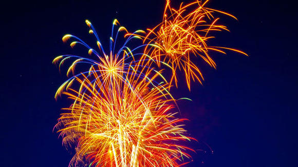 Treetops Resort launches fireworks to ring in the New Year