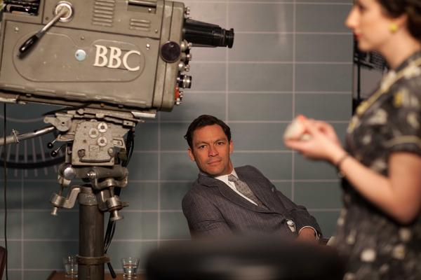 "Dominic West as BBC anchorman Hector Madden in BBC America's ""The Hour,"" which ends season 2 Wednesday night at 9."