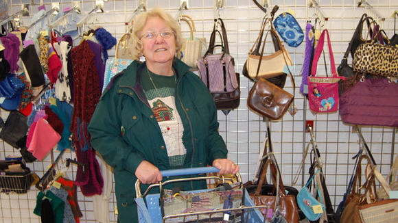 Joan Koronski shops at resale stores because she and her husband are retired and living on a fixed income. Here, she is shopping at the Salvation Army Thrift Store, her absolute favorite.