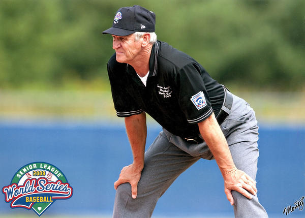 Turley has had the opportunity to officiate the Little League World Series championship game and the Senior League championship game. Turley is seen here in South Williamspot, Pa., in 2009 officiating the Senior League game.